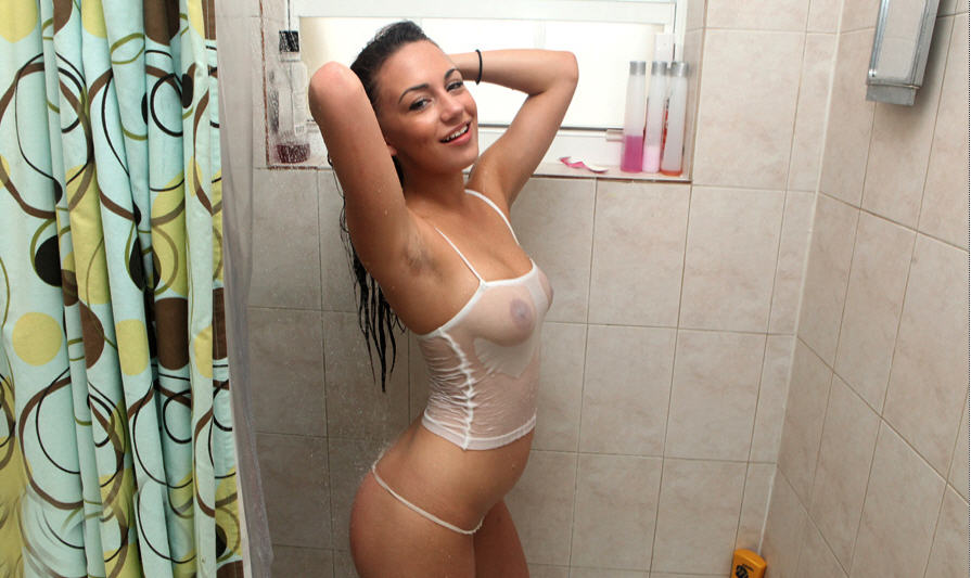 wet shower babe